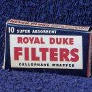 ROYAL DUKE Pipe Filters In Original Box Vintage Smoking