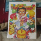 BETTY BOOP Standing Happy Birthday Card Unused 1990s