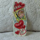 VALENTINE Space Theme Kids Card Rocket Vintage 1960s