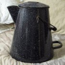 USN Dark Blue Military Coffee Pot 1940s WWII