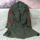 Marine Corps Vintage Military Sergeants Trench Coat