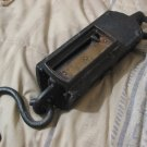 WEIGHT SCALE Antique Hanging Cast Iron Pull Down 200 lb