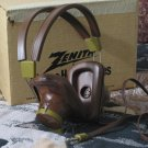 ZENITH Old Stereo Headphones In Original Box Unused