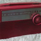 PHILCO Personal AM Tube Radio D661 1956 Tropical Red