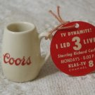 COORS and KLAS TV 8 Richard Carlson 1953 Tiny Promo Mug