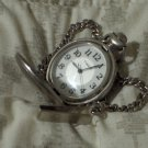 TIMEX Quartz Pocket Dial Watch With Chain No Date Used
