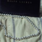 RALPH LAUREN Silver Tone Metal Bead Necklace 16 Inch Unused