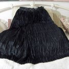 JAVA Brand 30 inch Long Black Pleated Skirt 24 in Waist