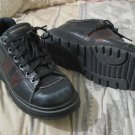 SKECHERS 1267 Black Leather Lace Shoes Sz 8 Nice Used