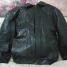 MAXAM Black Leather Patchwork Jacket Size XL Used