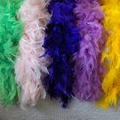 FEATHER BOAS Lot of 5 Assorted Colors 5 to 6 ft 2100