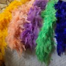 FEATHER BOAS Lot of 5 Assorted Colors 5 to 6 ft 2101