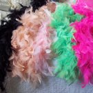 FEATHER BOAS Lot of 5 Assorted Colors 5 to 6 ft 2102