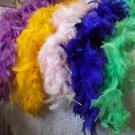 FEATHER BOAS Lot of 5 Assorted Colors 5 to 6 ft 2103