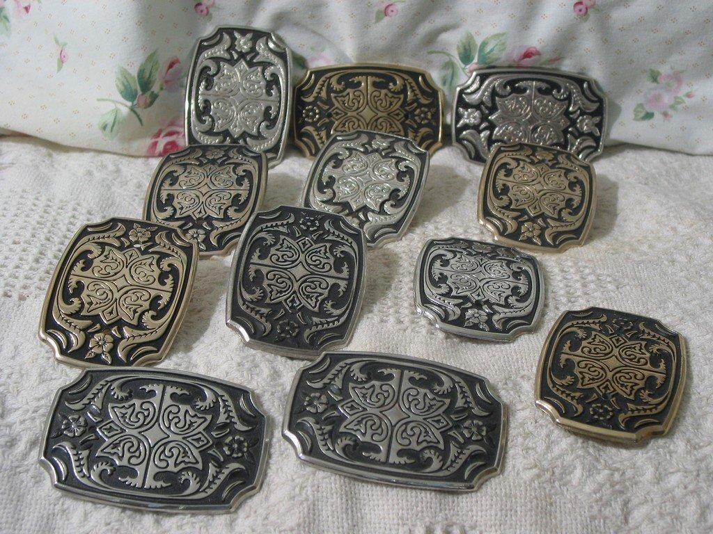 BELT BUCKLE 12 Plated Cast Metal Decorative Unbranded