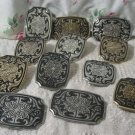 BELT BUCKLE 12 Plated Cast Metal Decorative Unbranded