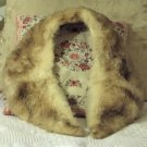BEIGE Australian Possum Fur Wrap Approx 38 Inch Length