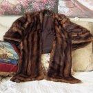 JV GRANT 1950s Era Fur Cape Stole Striped Used