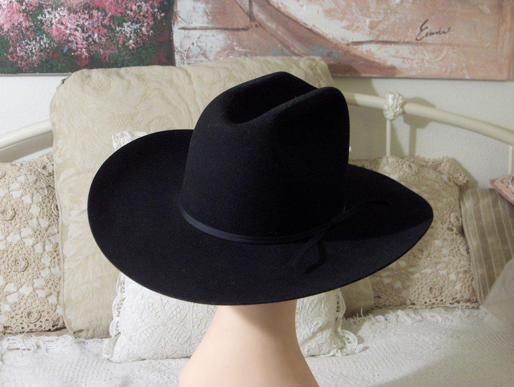 BAILEY 2X Fur Blend Black Western Cowboy Hat Sz 7 1/2