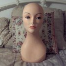 MANNEQUIN Female Head Table Pole Mounted Wig Display