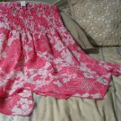 ONE LOVE Strapless Pink Beach Flower Dress Sz Lg Used