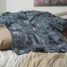 HAWAIIAN BLUES Dark Grey Button Down Shirt Size XL USA