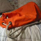DUFFLE BAG Orange Rubber Shell Equipment Storage Used