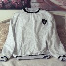OAKLAND RAIDERS White Black Pullover Shirt Sz Lg Unused