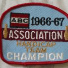 ABC BOWLING PATCH Handicap Champion 1966 1967 Season