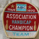 ABC BOWLING PATCH Handicap Champion 1969 1970 Season