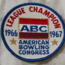ABC BOWLING PATCH League Champion 1966 1967 Season