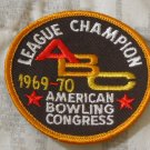ABC BOWLING PATCH League Champion 1969 1970 Season