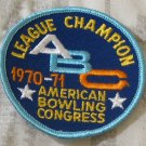 ABC BOWLING PATCH League Champion 1970 1971 Season