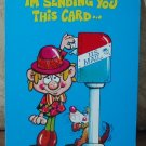 MARK 1 Inc. 1975 Vintage Defect Greeting Card Style 245 Thinking Of You