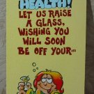 MARK 1 Inc. 1976 Vintage Defect Greeting Card Style 111C Get Well Soon