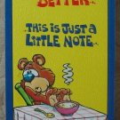 MARK 1 Inc. 1978 Vintage Defect Greeting Card Style 101 Get Well Soon