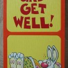 MARK 1 Inc. 1978 Vintage Defect Greeting Card Style 137Z Get Well Soon