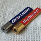 2 Small Beer Keg Tap Handles 1 Budweiser & 1 Bud Light