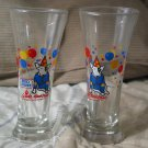 SPUDS MACKENZIE Dog 2 Budweiser Party Beer Glass 1987