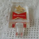 BUDWEISER Small Clear Acrylic Tap Handle 4 1/2 X 2 Used