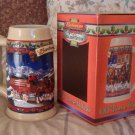 BUDWEISER Old Towne Beer Stein Mug Christmas 2003 Unused