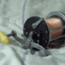 PENN No 155 Beachmaster Vintage Open Fishing Reel Yellow Knob
