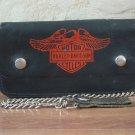 HARLEY DAVIDSON Original Licensed Product Eagle Logo Chain Leather Wallet