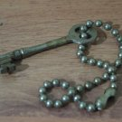 "CORBIN P5 Skeleton Key With Original ""Ball Chain"" Chain For Door Locks"