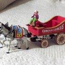 CIRCUS CIRCUS Las Vegas Casino Clown Troupe Wagon + Horses