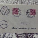 First Day Issue Cover Stamp Special Cancellation Sweden 1954