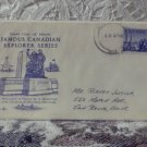 First Day Issue Cover Stamp Famous Canadian Explorer 1958 5c