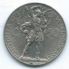 COIN MONEY Vatican City 1931 50 Centesimi AN X Nickel