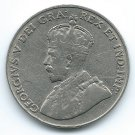 COIN MONEY Canada 1930 5 Cents King George Nickel