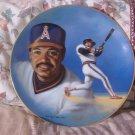 REGGIE JACKSON Angels Baseball Decor Plate 1988